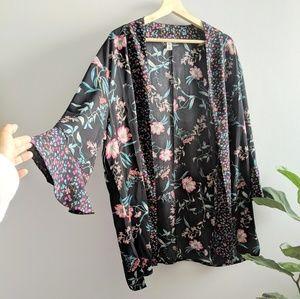 BP floral printed kimono